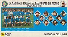 ARGENTINA 1978 CALCIO - NAZIONALE ITALIANA AL CAMPIONATO DEL MONDO - AGIP