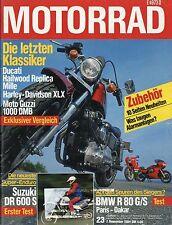 Motorrad 23/84 1984 BMW R 80 G/S Paris Dakar BSM RD-SE 80 Harley Davidson XLX