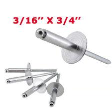 Pop Rivets Large Flange 100 Pc 316 X 34 Aluminum Steelplastic Mandrel Rivet