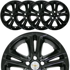 "4 Black 2016-2018 Chevrolet Cruze LT 16"" Wheel Skins Hub Caps Full Rim Covers"