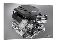 BMW M3 V8 Engine - 30x20 Inch Canvas - Framed Picture Print
