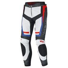 Pantalones de color principal blanco de cuero para motoristas