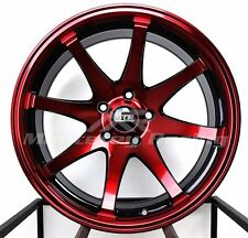 18X9 5x114.3 STR 903 BLACK AND RED MADE FOR TOYOTA DODGE HONDA HYUNDAI