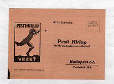 BUDAPEST (HONGRIE) PESTI HIRLAP  Vezet / CARTE POSTALE Abonnement PRESSE en 1930