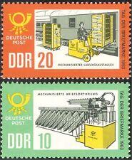 Germany 1963 Stamp Day/Truck/Trains/Mail Van/Sorting Office/Rail 2v set (n43939)