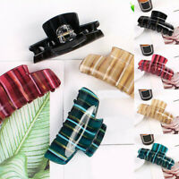 Women Large Acrylic Hair Claw Clips Barrette Crab Clamp Hairpin Hairdress 10CM