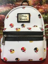 Loungefly Disney Mickey Mouse Faux Leather Mini Icons Backpack NWT