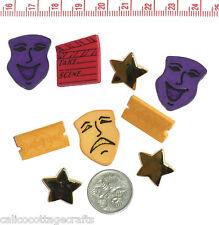 Novelty Buttons Embellishments Scrapbook Theatre Goer # 355