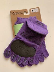ToeSox Plie Full Toe Grip Yoga Socks in Purple Size Small (6-8)