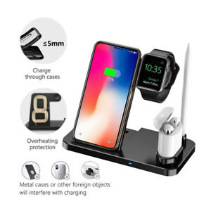 Wireless Charge Dock Apple iPhone Watch Samsung Galaxy Charging