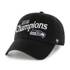 Seattle Seahawks 47 Brand Super Bowl XLVIIII Champions Black Adjustable Hat Cap