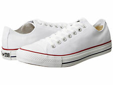 NEW MEN WOMEN UNISEX CONVERSE ALL STAR CHUCK TAYLOR OX OPTICAL WHITE RED M7652