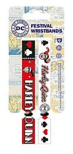 DC COMICS ORIGINALS HARLEY QUINN Pack Of 2 Fabric Festival Wristbands BY PYRAMID