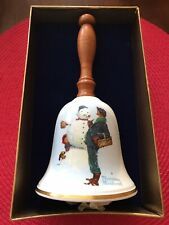 "New ListingVintage Gorham Bone China 1976 Norman Rockwell ""Snow Sculpture"" Collector Bell"
