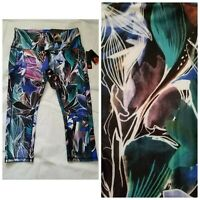 New RBX Active Multicolor Floral Women's XL XLarge Capri Yoga Pants Leggings $58