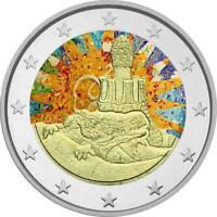 2 Euro Gedenkmünze Spanien 2014 coloriert / mit Farbe - Farbmünze Gaudi