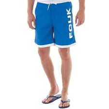 French Connection Mens FCUK Panel Swim Shorts Cobalt
