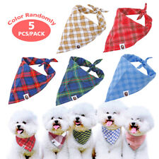 5/10/15/20pcs Cotton Bandana-Style Dog Collar Small Large Dogs Neckerchief Scarf