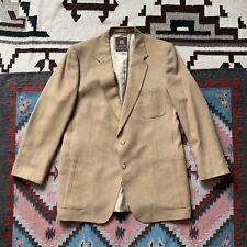 LANVIN PARIS Feather Suede Ptch Pkt Camel Tan Mens Blazer Sport Coat Jacket