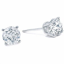 14K WHITE GOLD 3/4CT DIAMOND STUD EARRINGS
