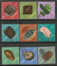 MOZAMBIQUE 1971 MINERALS & FOSSILS Sc#494-502 COMPLETE USED SET 0609