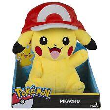 Véritable Tomy Pokemon Grande Peluche Pikachu avec Ash Chapeau