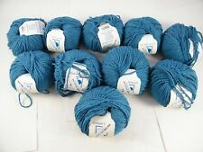 BAMBOUCLE YARN BY ELSEBETH LAVOLD # 009 BLUE COTTON, BAMBOO, LINEN LOT OF 10
