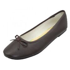 New Women/Juniors Easy USA Slipon Ballet Flats Brown S8500-T Size 7