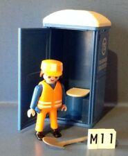 (M11) playmobil  toilettes bleues de chantier 3275
