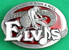 "Belt Buckle ""The King of Rock & Roll"" 3.8cm Wide Belt, Custom Made, MetalCasting"