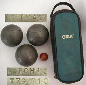 OBUT ATS MATCH 110 710gr T79 Ø74mm +étui Triplette compétition boules Pétanque