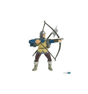 PAPO 39385 Blue Bowman toy Knights figurine Medieval figure History bow & arrow