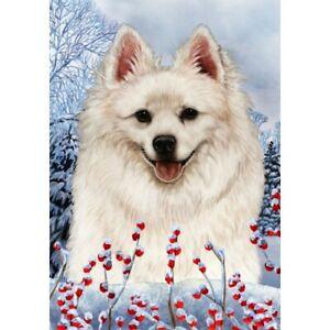 Winter House Flag - American Eskimo 15126