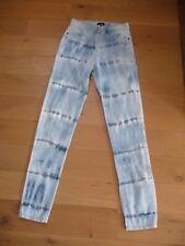 Jean slim taille haute CAROLL bleu tie and dye T38 en très bon état