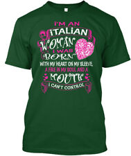 I Am An Italian Woman - I'm Was With My Heart On Sleeve, A Premium Tee T-Shirt