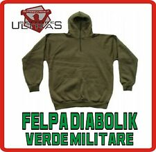 Felpa DIABOLIK combact verde army protezione SOFT AIR sweat military MILITARE