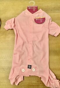 "NEW Pink ""Thermal Underwear"" Dog Pajamas Sleepwear Clothes Size LARGE"