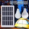 9/12/24W Panneau Solaire +LED Bulb Ampoule Lumière Lampe Portable Jardin Camping