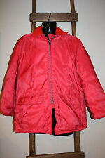 Vintage~J.C. HIGGINS~Sears, Roebuck~RED~Hunting Coat~GAME POUCH~Heavy Zipper~L?