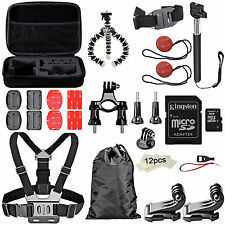 Kit Esencial de Accesorios para Camara GoPro Hero5 Hero 5 Black Session Maletin