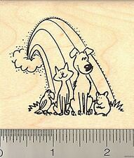Pets at Rainbow Bridge rubber stamp J9422 WM cat dog