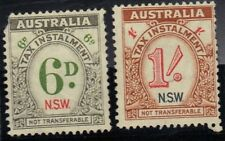Australia 2 Tax Instalment Stamps For Nsw - Mng