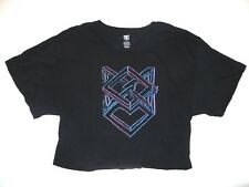 New DC Shoes Womens Lila Oversized Cropped Fashion Top Tee T Shirt Tshirt Medium