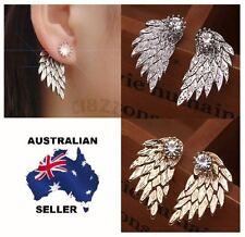 Angel Wings Earrings Rhinestone Gothic Ear Stud Ladies Celebrity Style Look