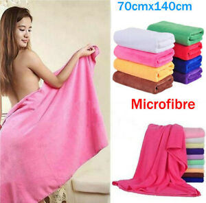 Women Quick Drying Microfiber Bath Towels Sports Spa Beach Camping Cleaning Wrap