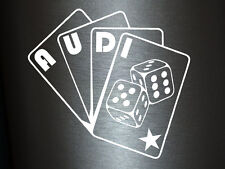 1 x 2 Plott pegatinas audi poker tarjetas sticker tuning Shocker Quattro OEM nuevo