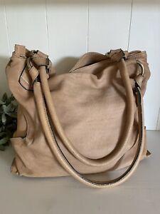 Sundance Handbag made in Italy Tan/Nude Leather VERY SOFT Purse