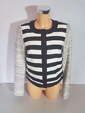 ESPRIT  Damen kurze Jacke  Blazer Gr. 38 schwarz - weiß gestreift  ELEGANT + NEU