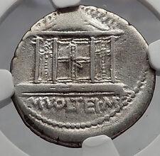 Roman Republic 78BC Rome JUPITER TEMPLE Public Festival Silver Coin NGC i60205