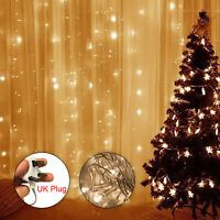 300 LED Curtain Fairy Lights String Indoor Outdoor Backdrop Wedding Xmas Party